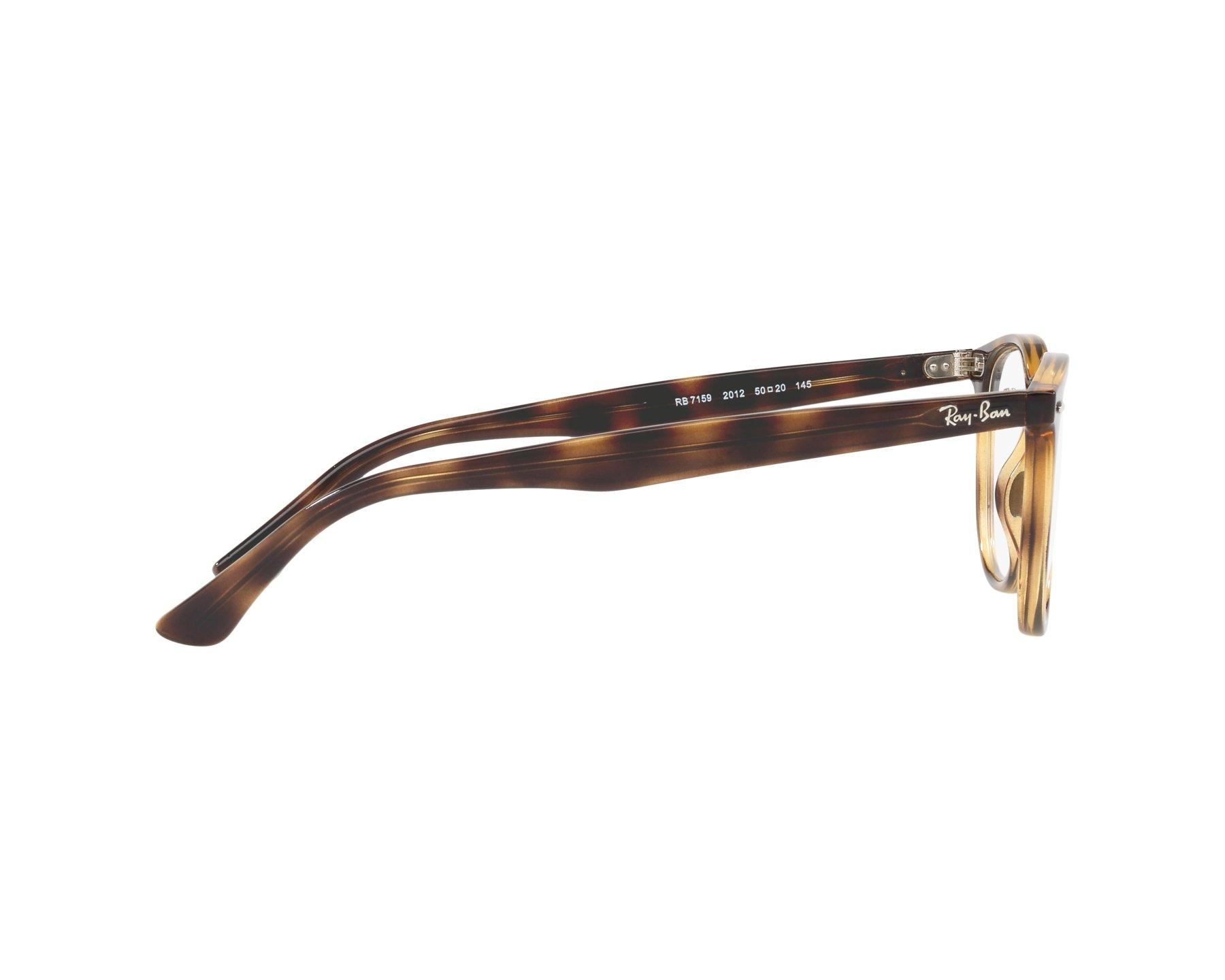 62e92de177a eyeglasses Ray-Ban RX-7159 2012 50-20 Havana 360 degree view 10