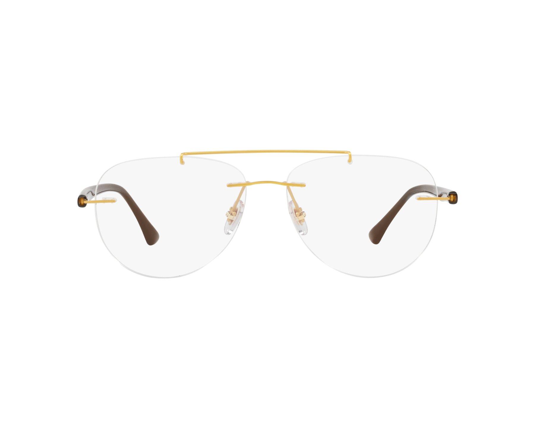 63337ecb91 eyeglasses Ray-Ban RX-8749 1194 - Gold Brown 360 degree view 1