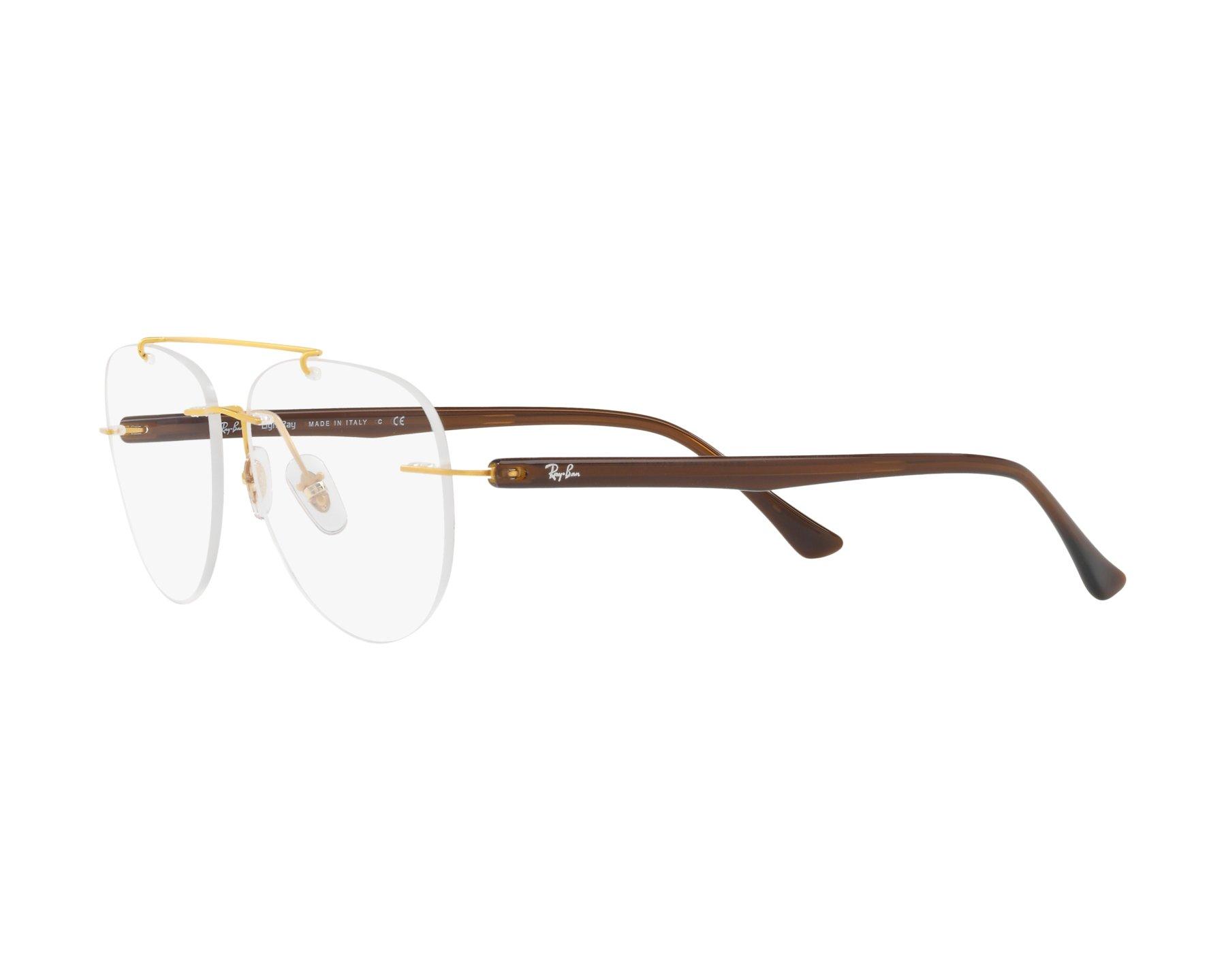 24f2dc2d2a eyeglasses Ray-Ban RX-8749 1194 - Gold Brown 360 degree view 3