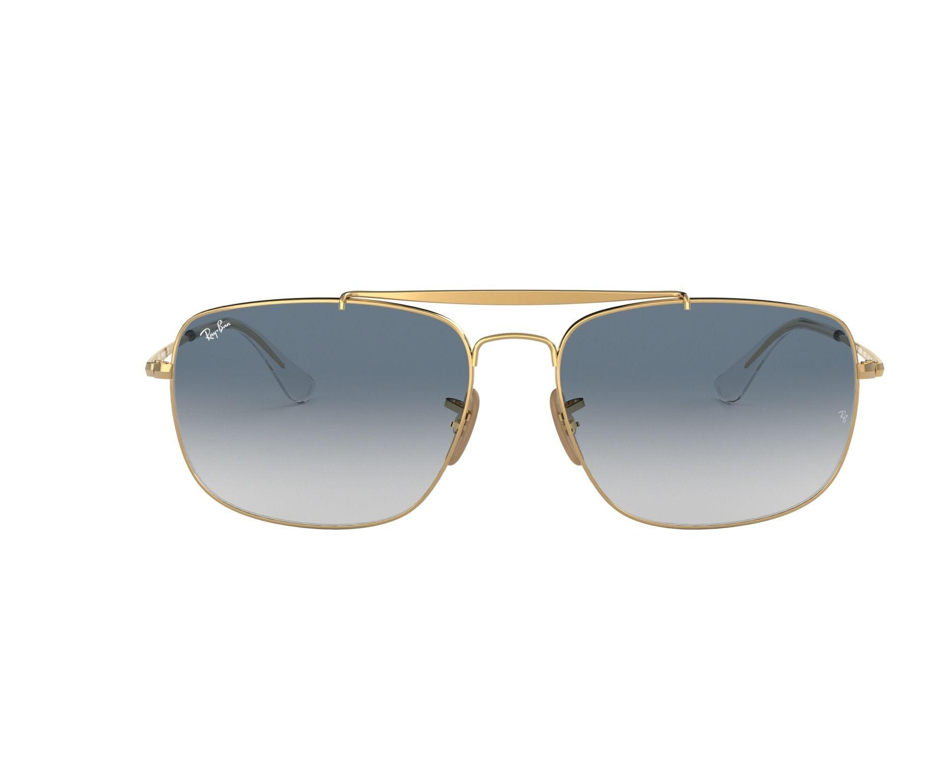 fa0f94b61d7 Sunglasses Ray-Ban RB-3560 001 3F 58-17 Gold 360 degree