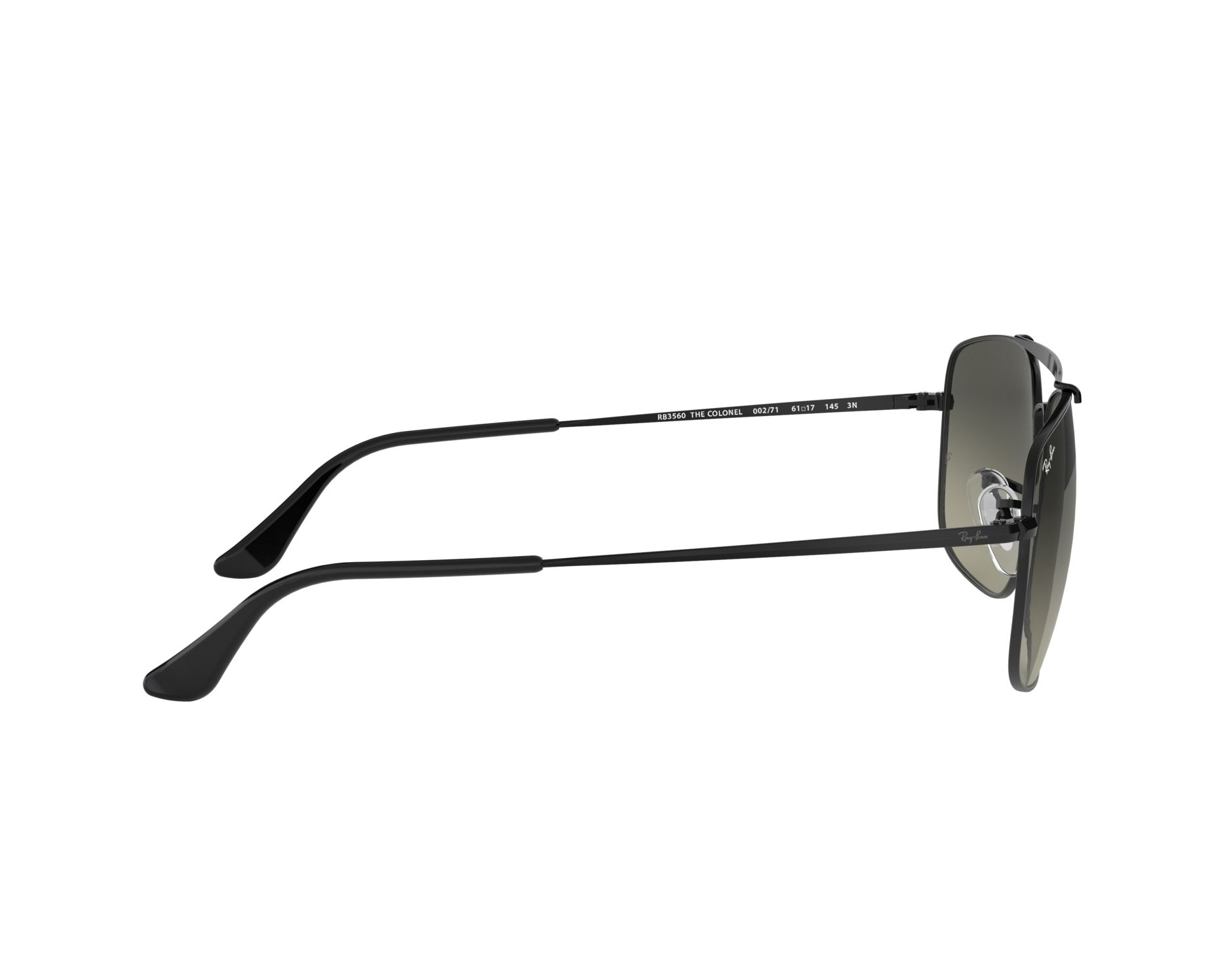 f54b887302 Sunglasses Ray-Ban RB-3560 002 71 58-17 Black 360 degree