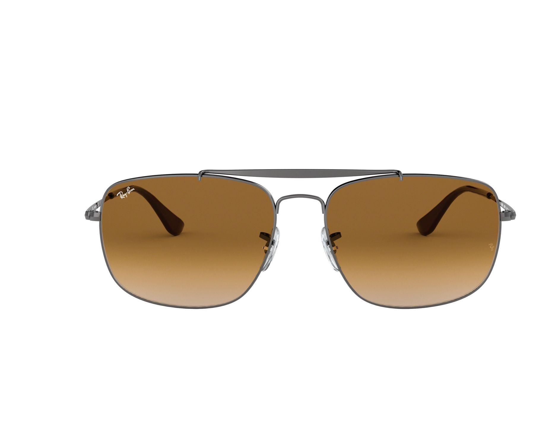 ca71e9b8fe0 Sunglasses Ray-Ban RB-3560 004 51 58-17 Gun 360 degree