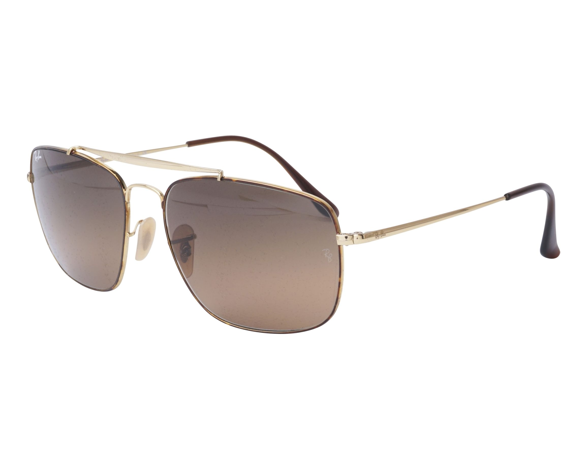 bc2794500829 Sunglasses Ray-Ban RB-3560 910443 58-17 Gold Havana profile view