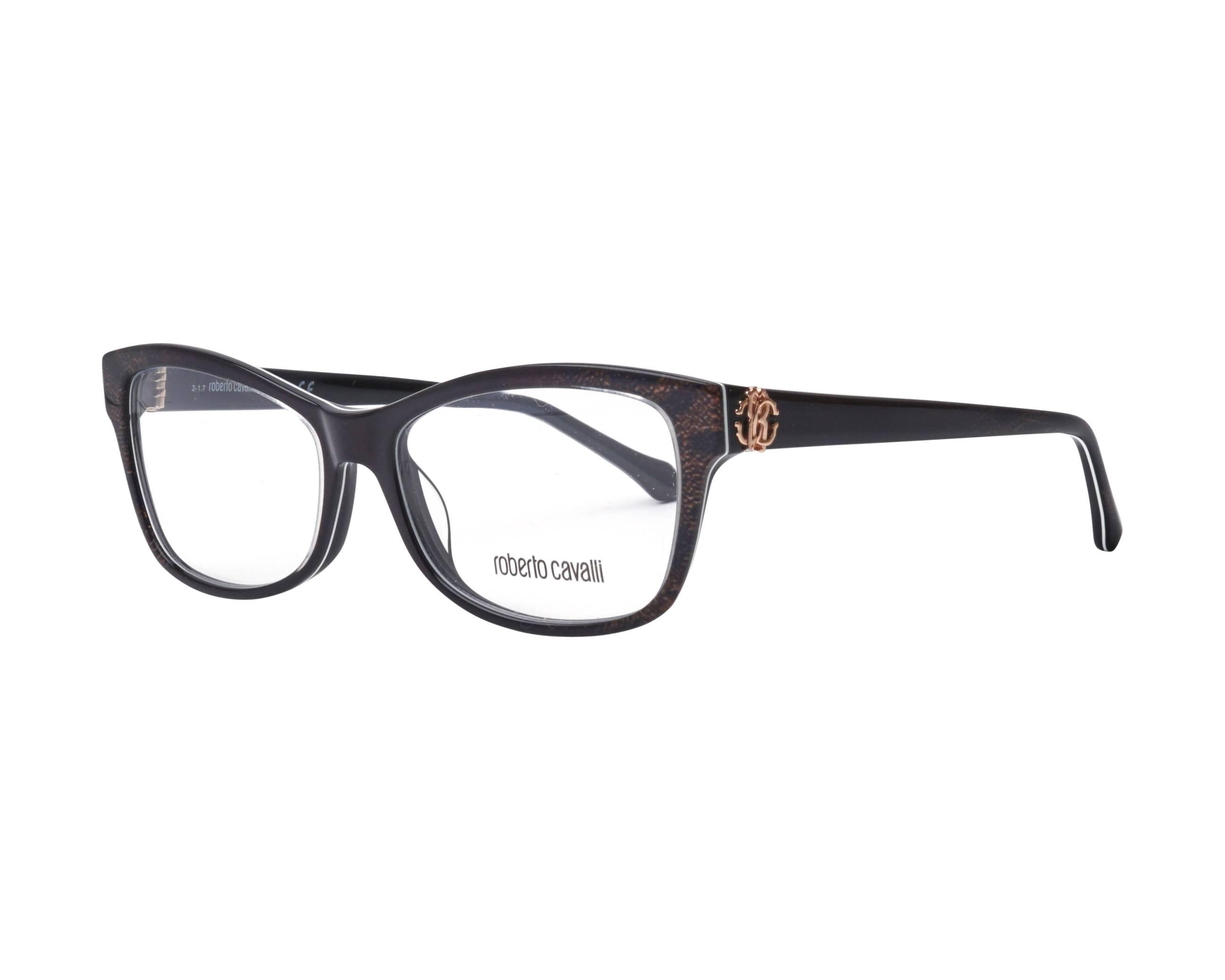 3c1e650ecb eyeglasses Roberto Cavalli RC-5013 005 54-15 Brown Black profile view