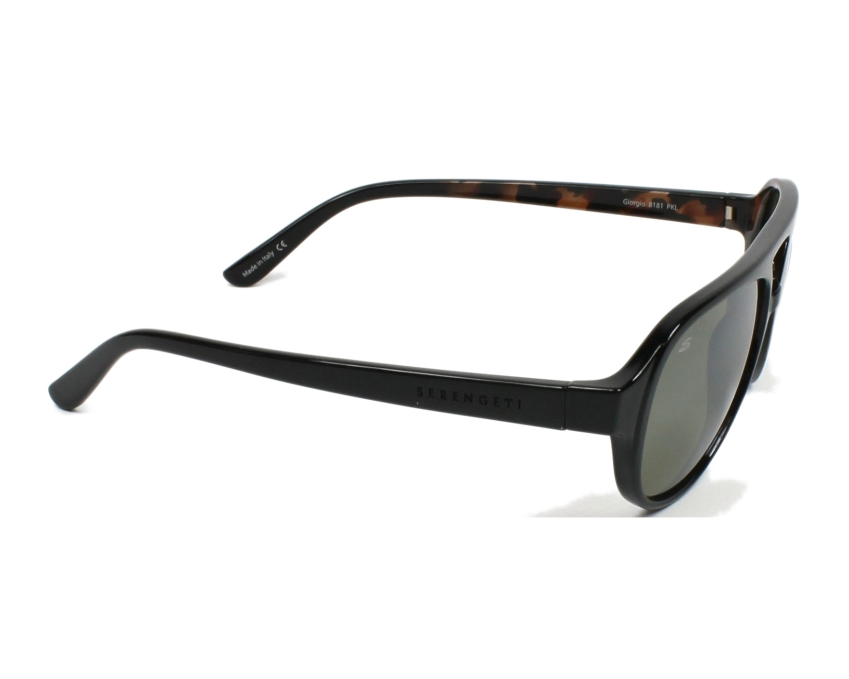 28106f376bb Sunglasses Serengeti GIORGIO 8181 58-16 Black side view