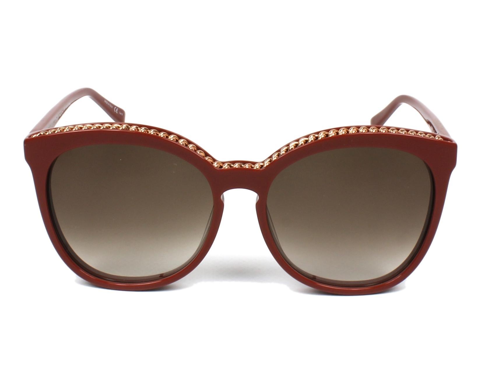 60c56b4cdb7 Sunglasses Stella McCartney SC-0074-S 005 - Red Gold Copper front view