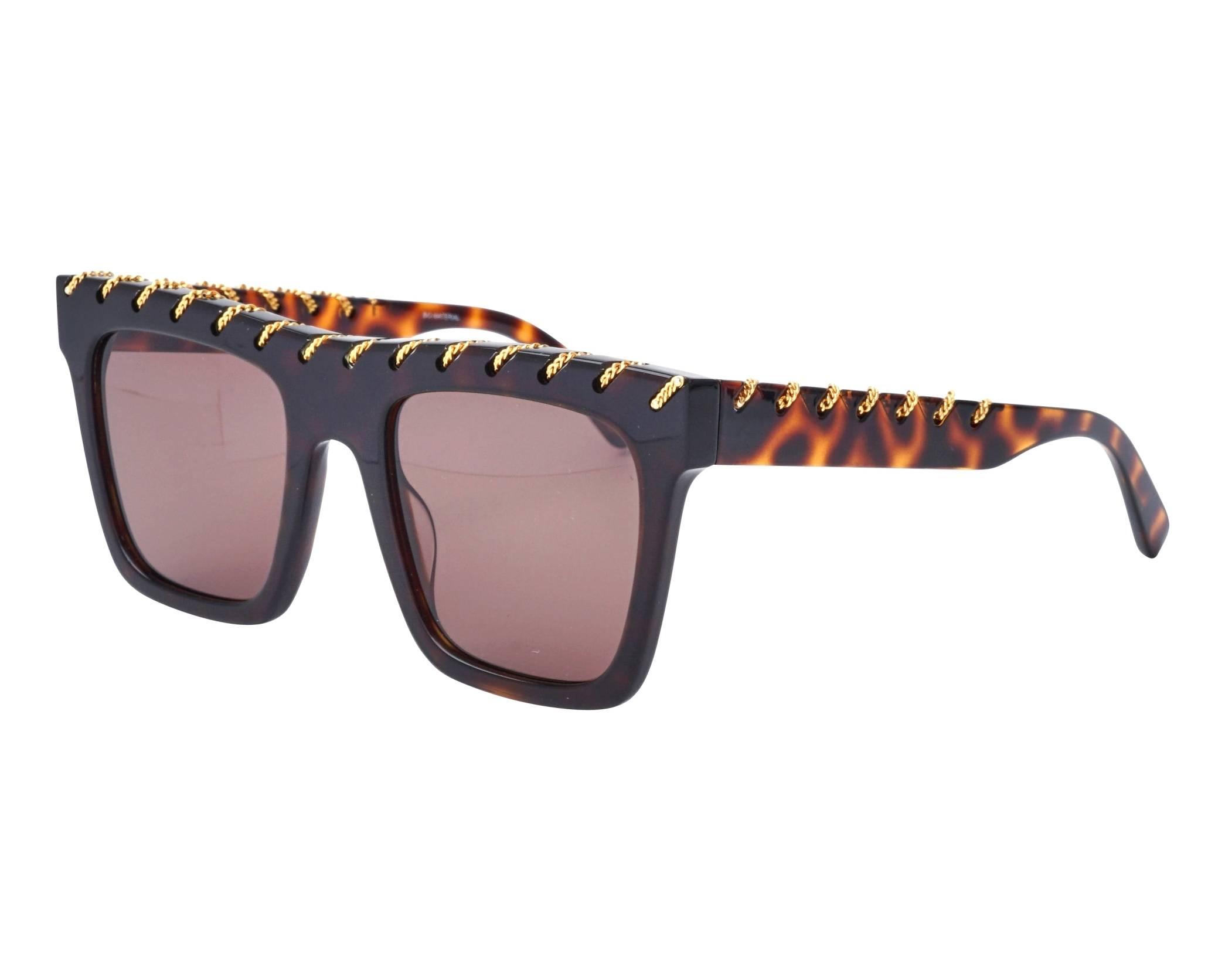 e3d6bf30a0 Sunglasses Stella McCartney SC-0128-S 002 51-21 Havana Gold profile view