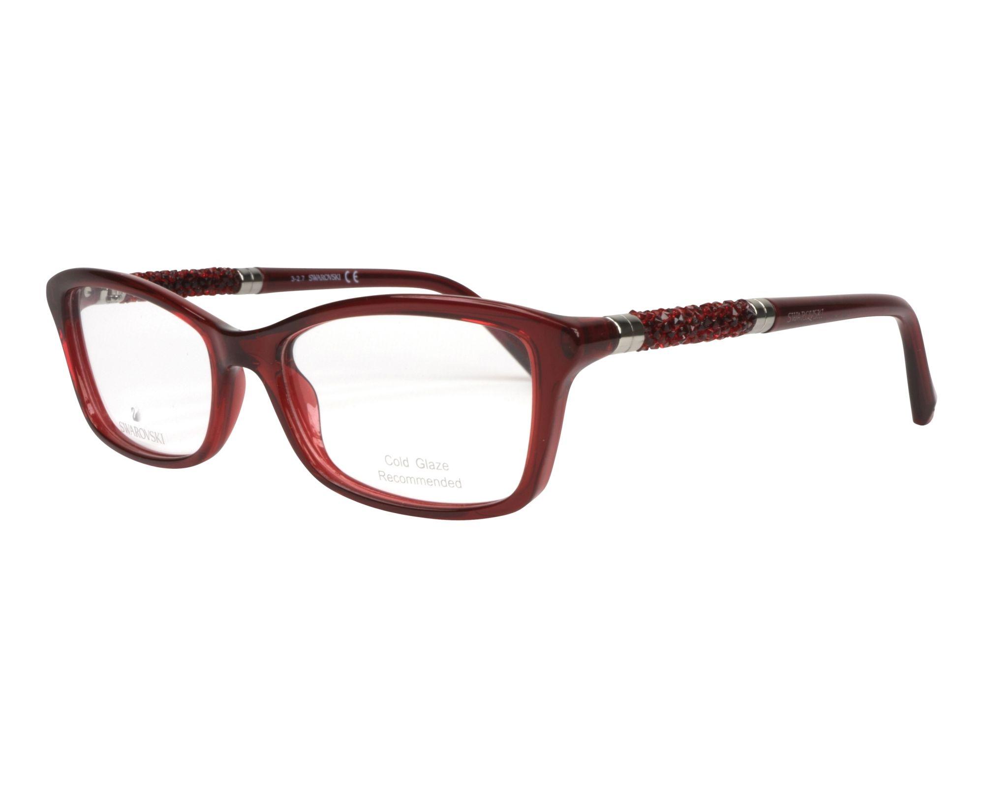 4712590b509 eyeglasses Swarovski SK-5257-V 066 53-16 Red Red profile view
