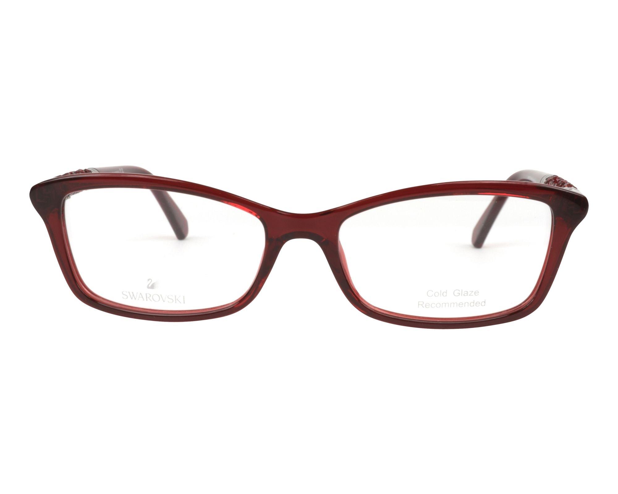 db76dd38166 eyeglasses Swarovski SK-5257-V 066 53-16 Red Red front view