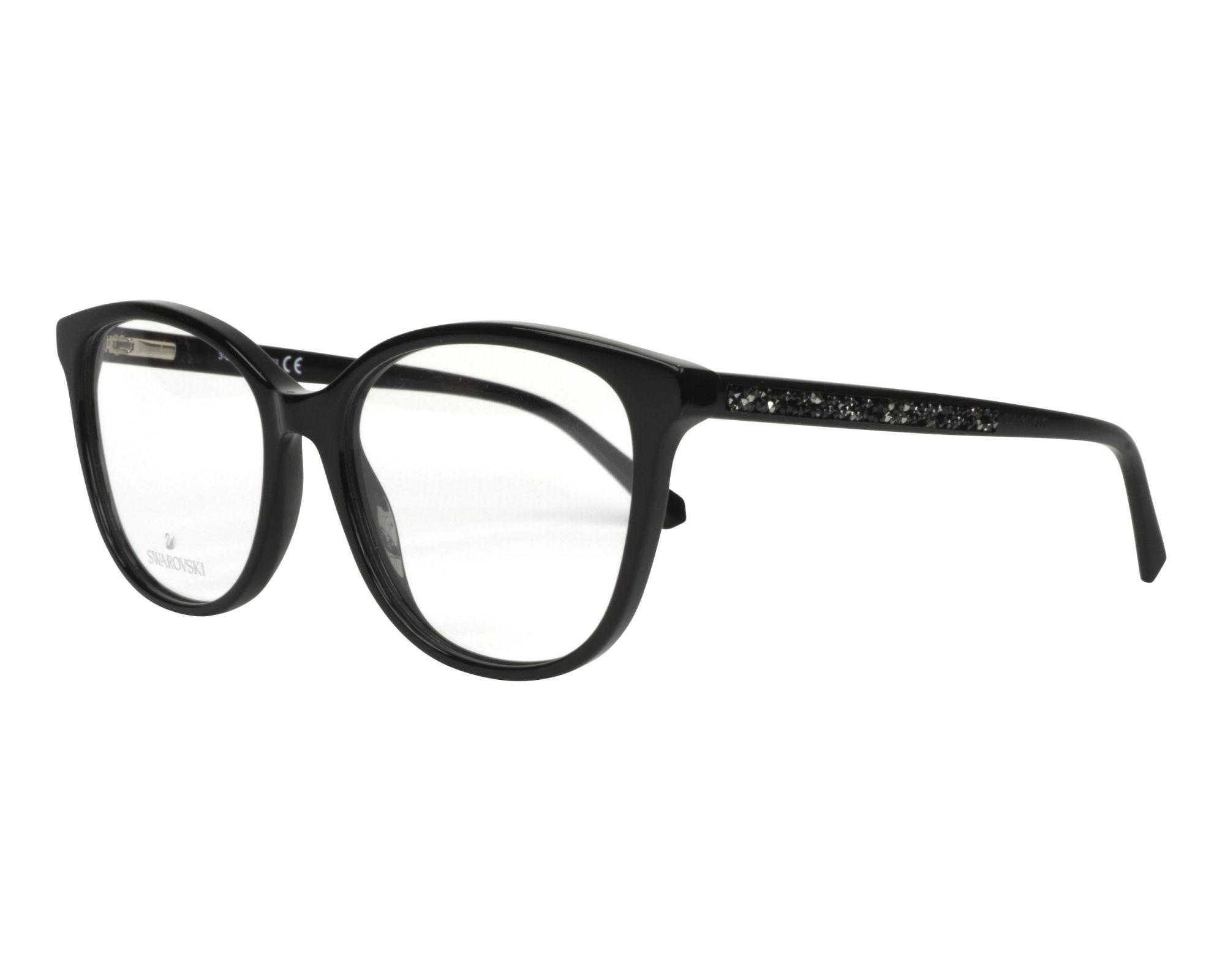 976f637736 eyeglasses Swarovski SK-5264-V 001 54-16 Black Black profile view