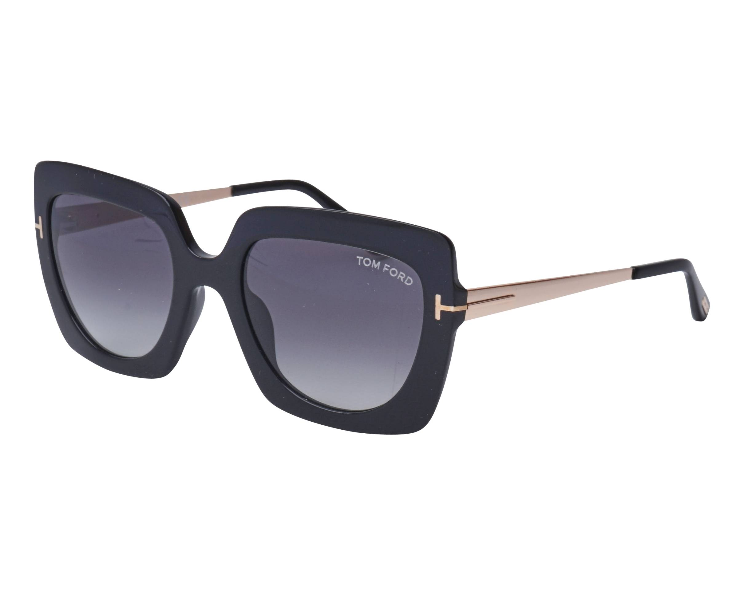 147a14374a Sunglasses Tom Ford TF-0610 01B 53-21 Black Gold profile view