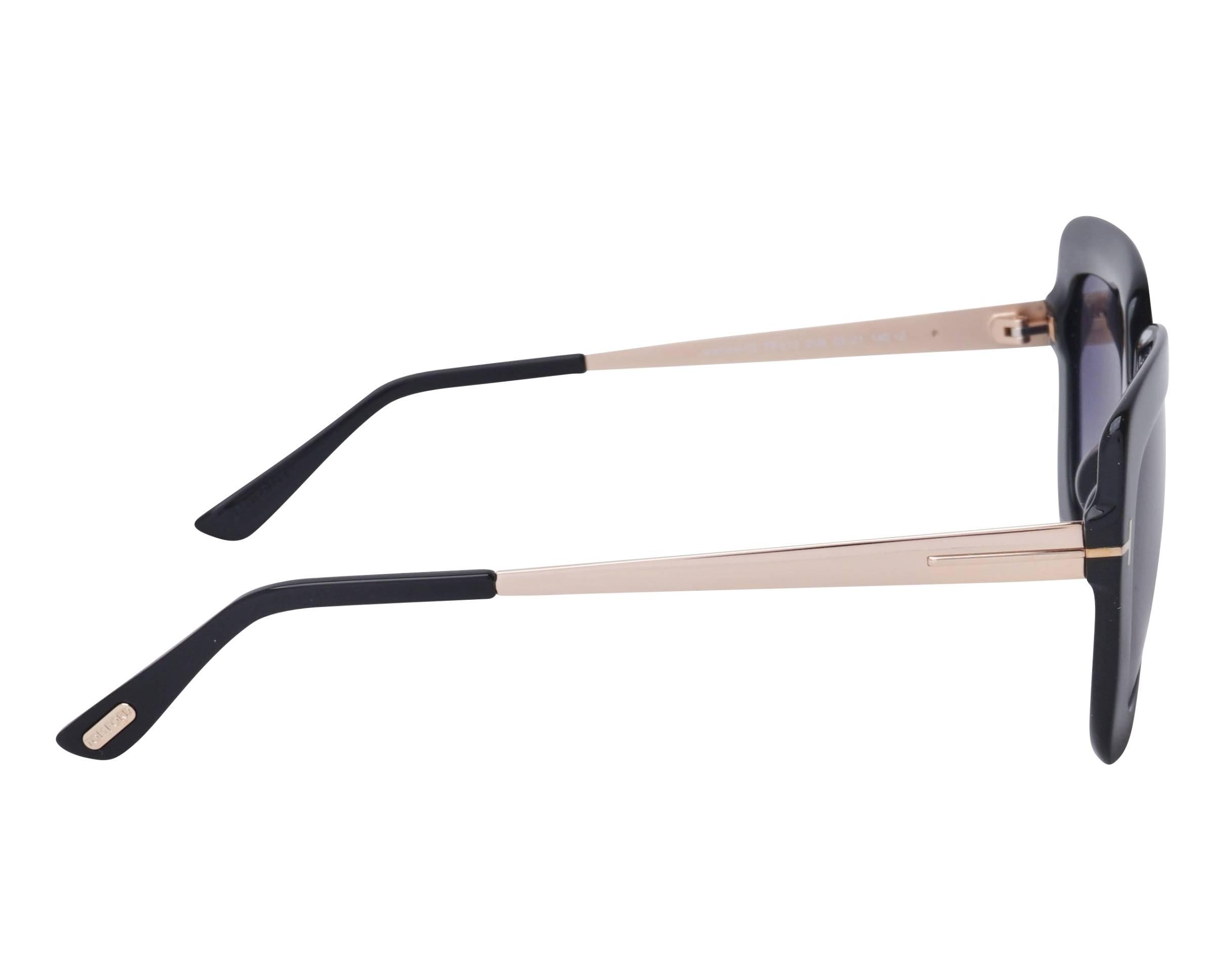68f669ec5d Sunglasses Tom Ford TF-0610 01B 53-21 Black Gold side view