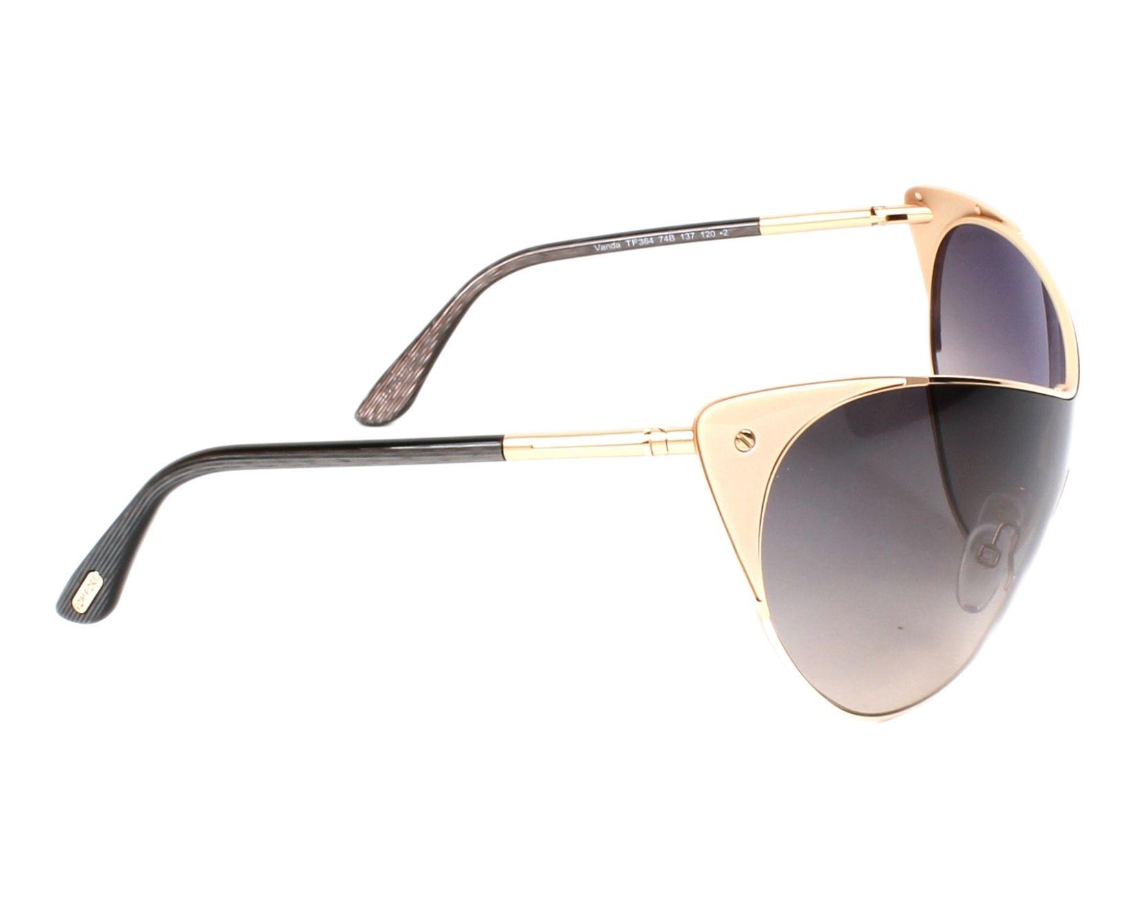 adba54d3840b Sunglasses Tom Ford TF-0364 74B - Gold Rosa side view