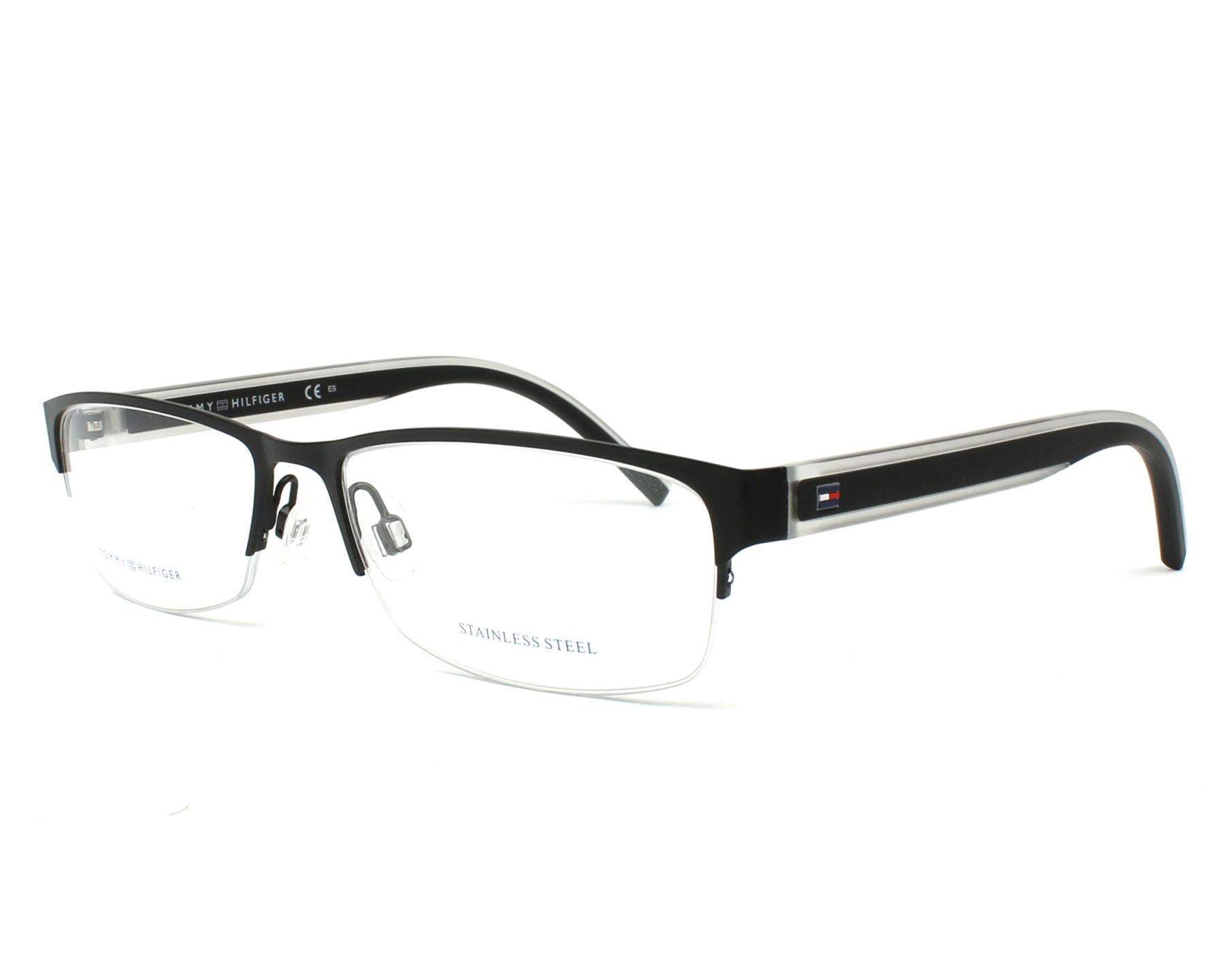 dafbc5e4b9f eyeglasses Tommy Hilfiger TH-1496 003 - Black Crystal profile view
