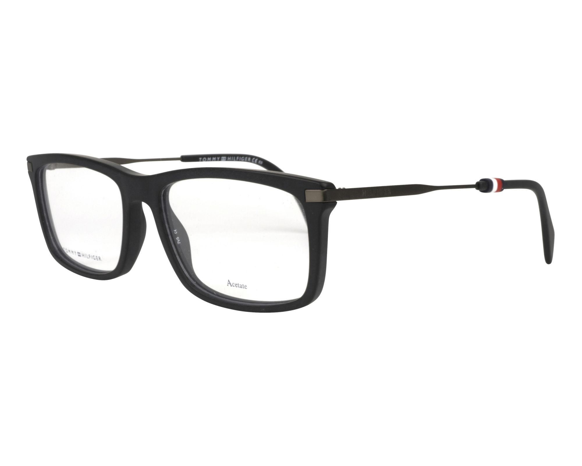 c0ccc602ac1 eyeglasses Tommy Hilfiger TH-1538 003 55-17 Black Gun profile view