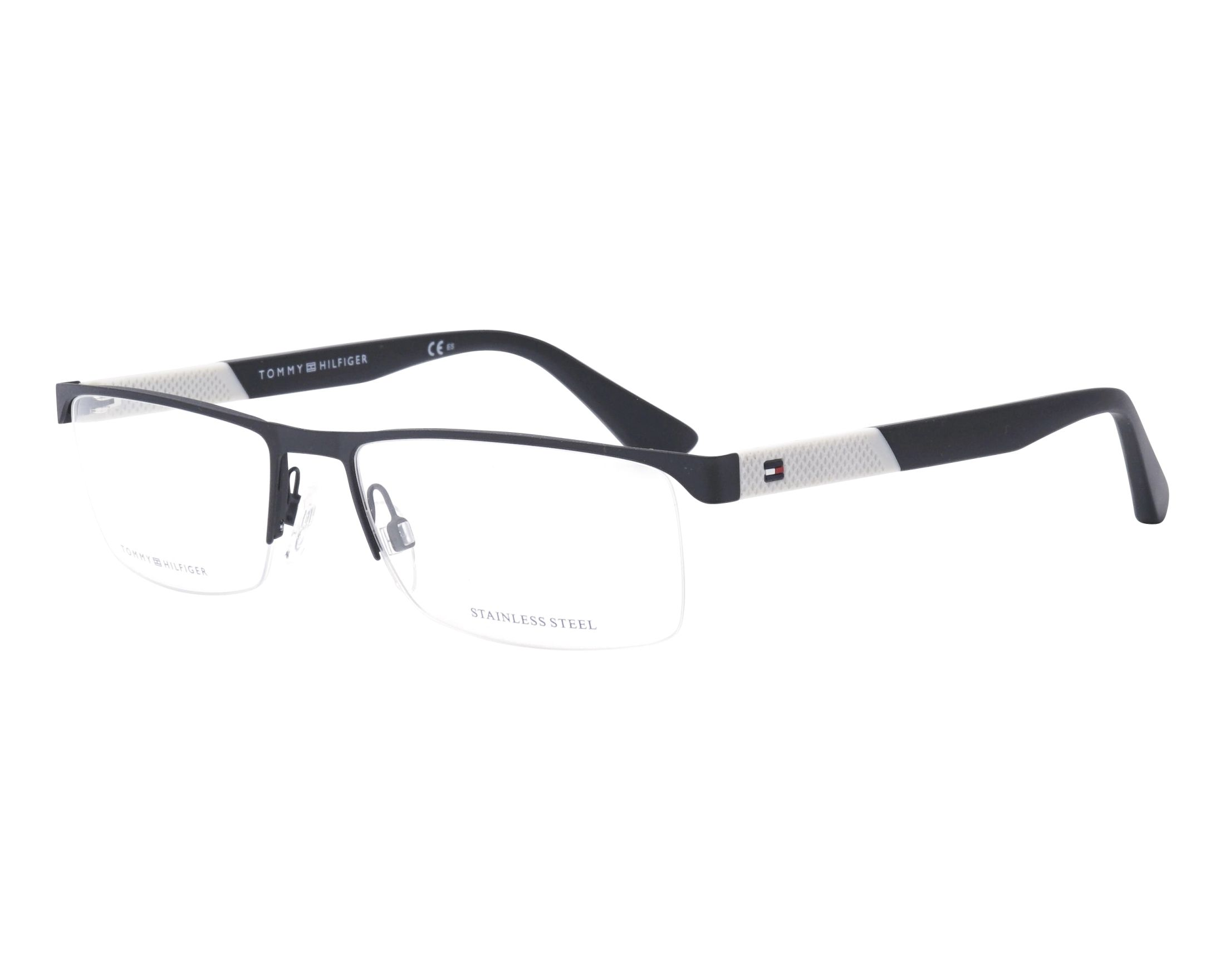 bf84201676a eyeglasses Tommy Hilfiger TH-1562 003 56-17 Black White profile view