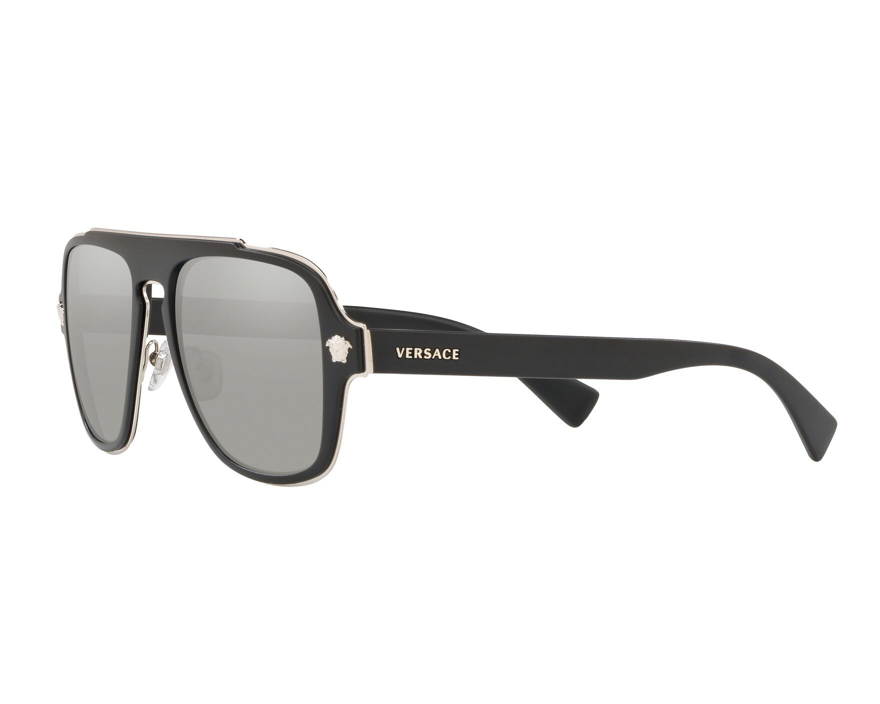 921a13fe5421 Sunglasses Versace VE-2199 10006G 57-18 Black Silver 360 degree view 3