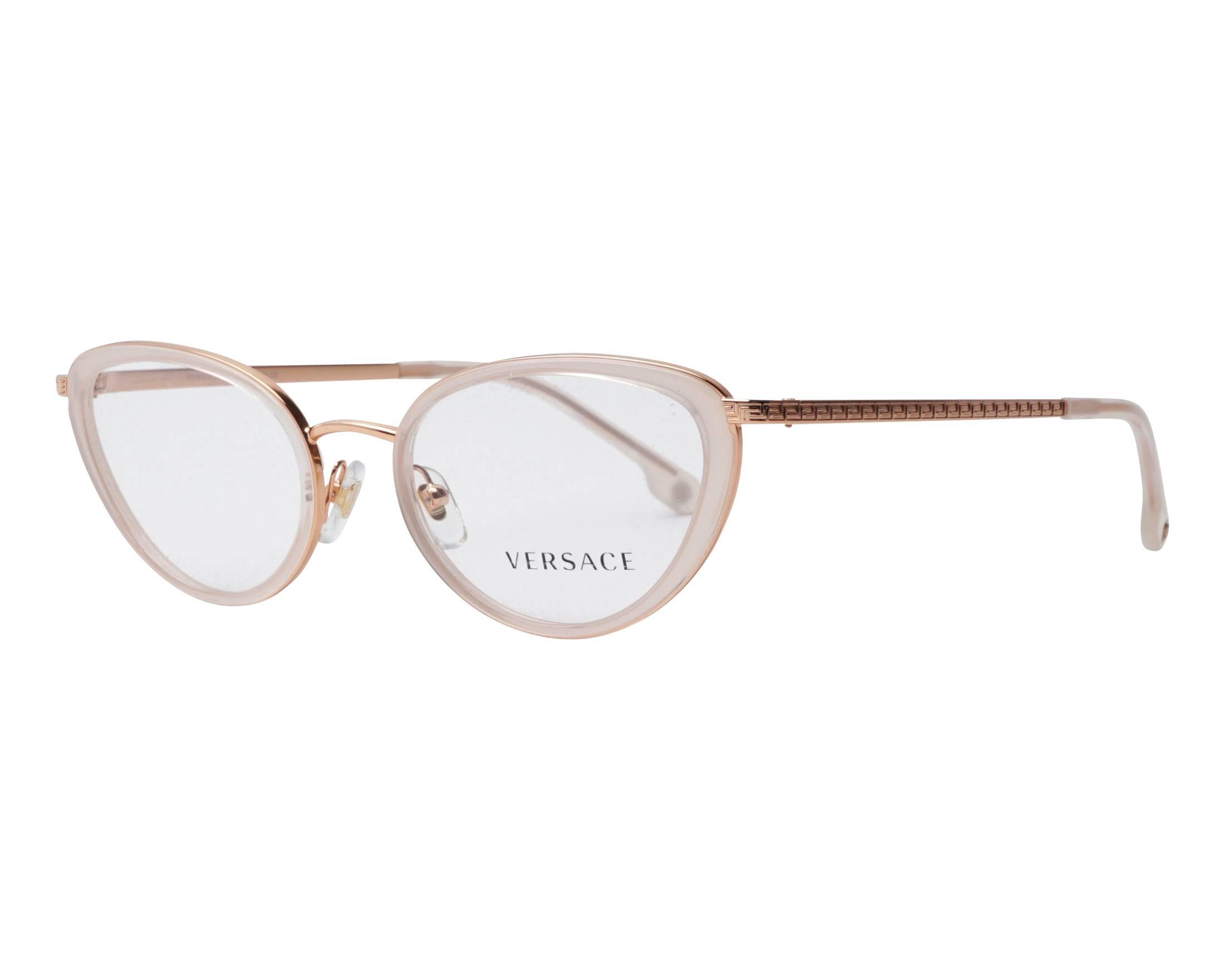 5ec384112b eyeglasses Versace VE-1258 1442 52-19 Gold Copper White profile view