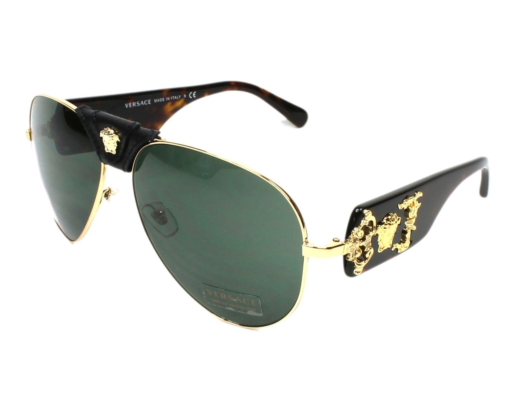 d6a1965ece105 Sunglasses Versace VE-2150-Q 1002 71 62-14 Gold Black profile