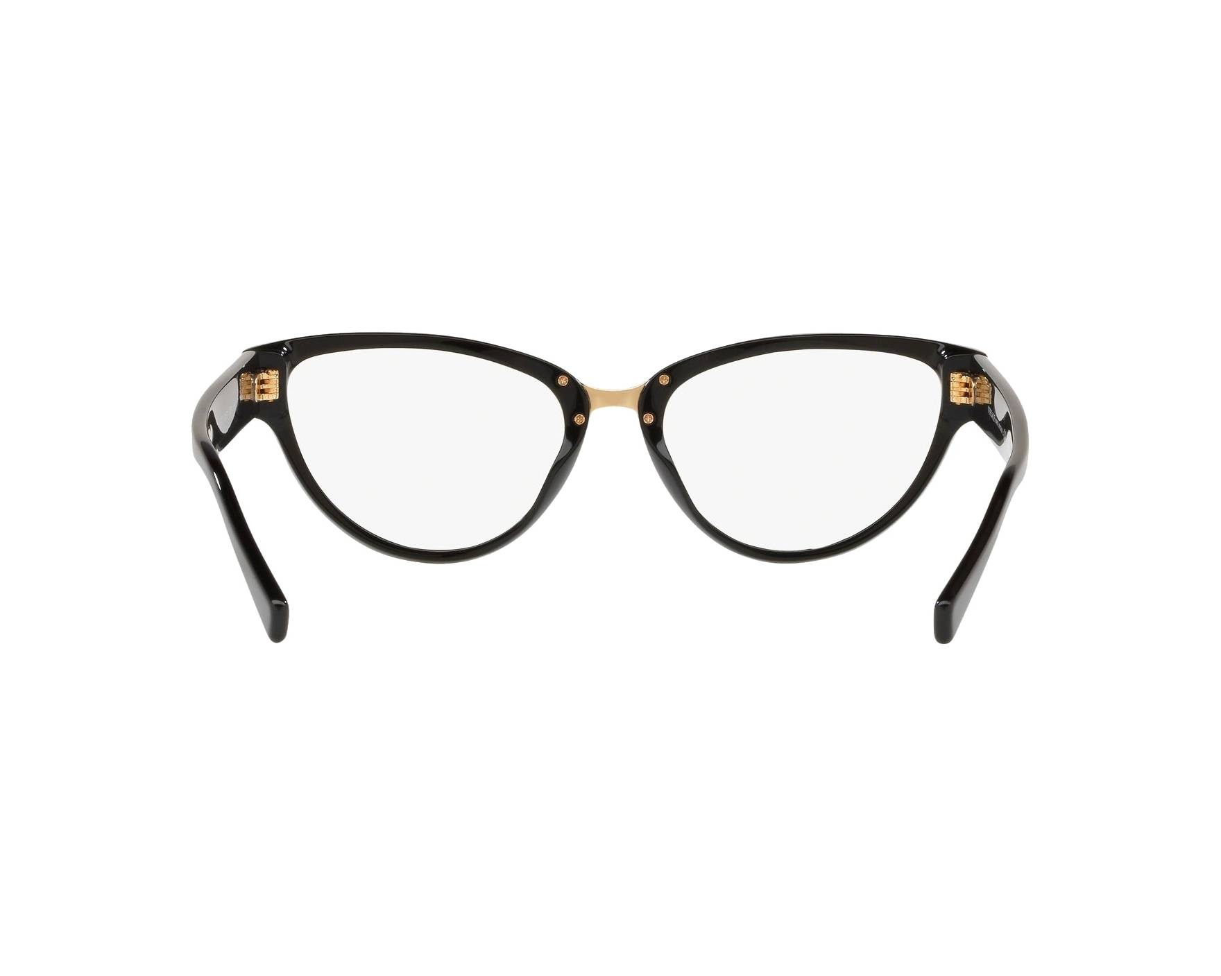 d45922c5c83 eyeglasses Versace VE-3267 GB1 53-17 Black 360 degree view 7