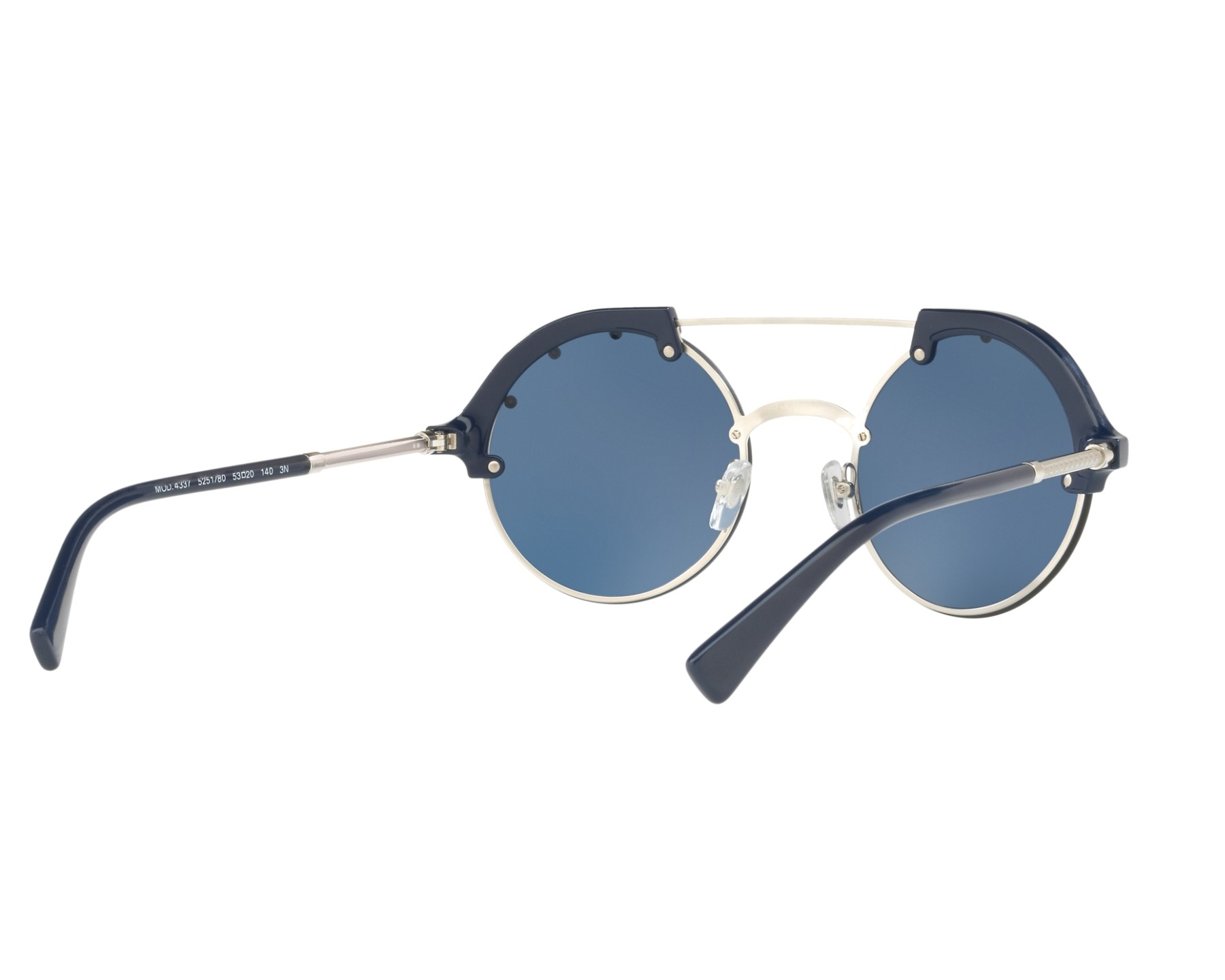 df879c40e0 Sunglasses Versace VE-4337 525180 53-20 Blue Silver 360 degree view 8