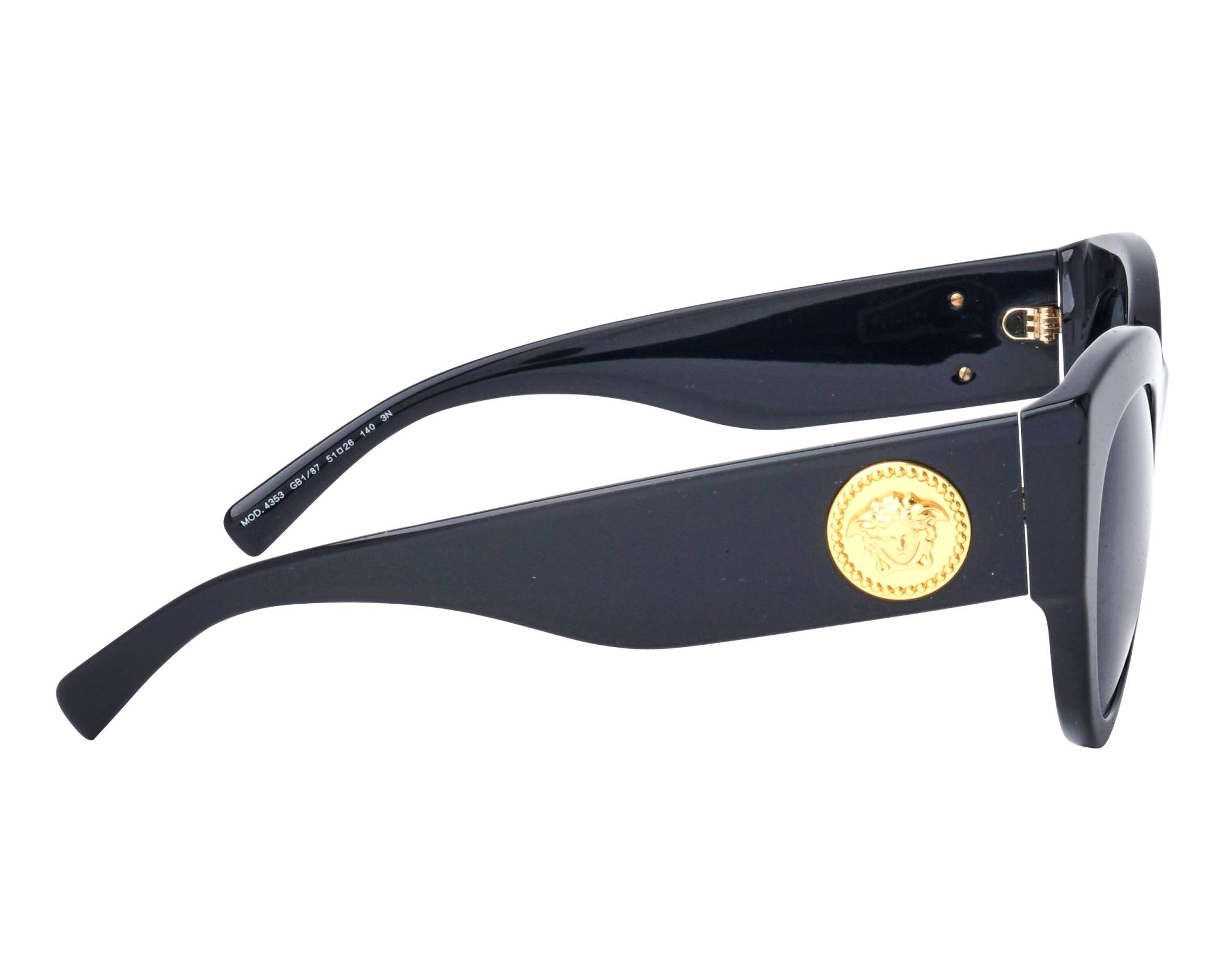 b46c8fc3b29 Sunglasses Versace VE-4353 GB1 87 51-25 Black side view