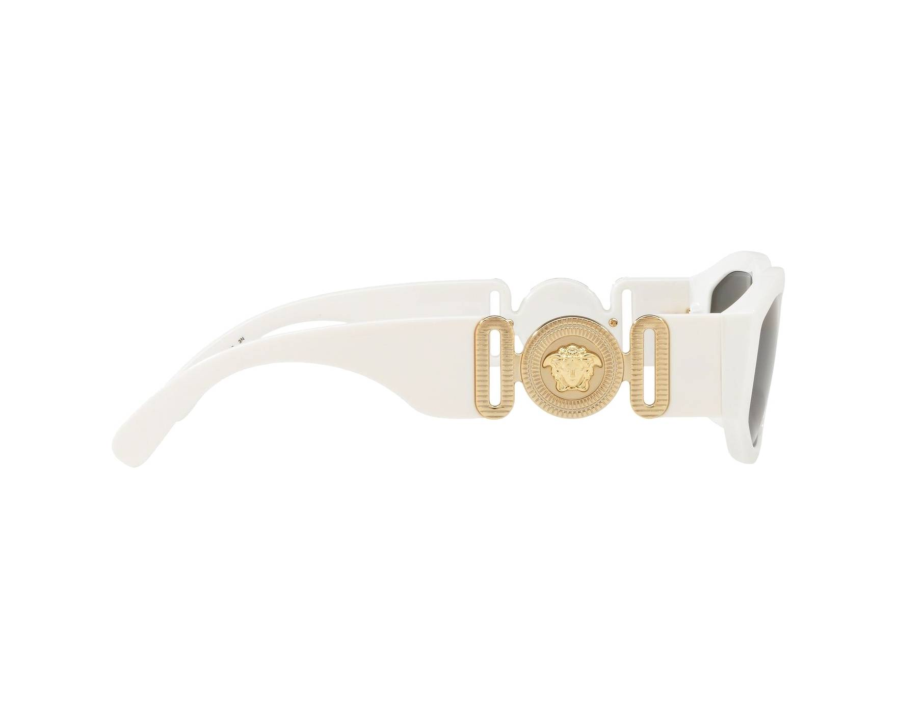 2a9ac466115b Sunglasses Versace VE-4361 401-87 53-18 White 360 degree view 10