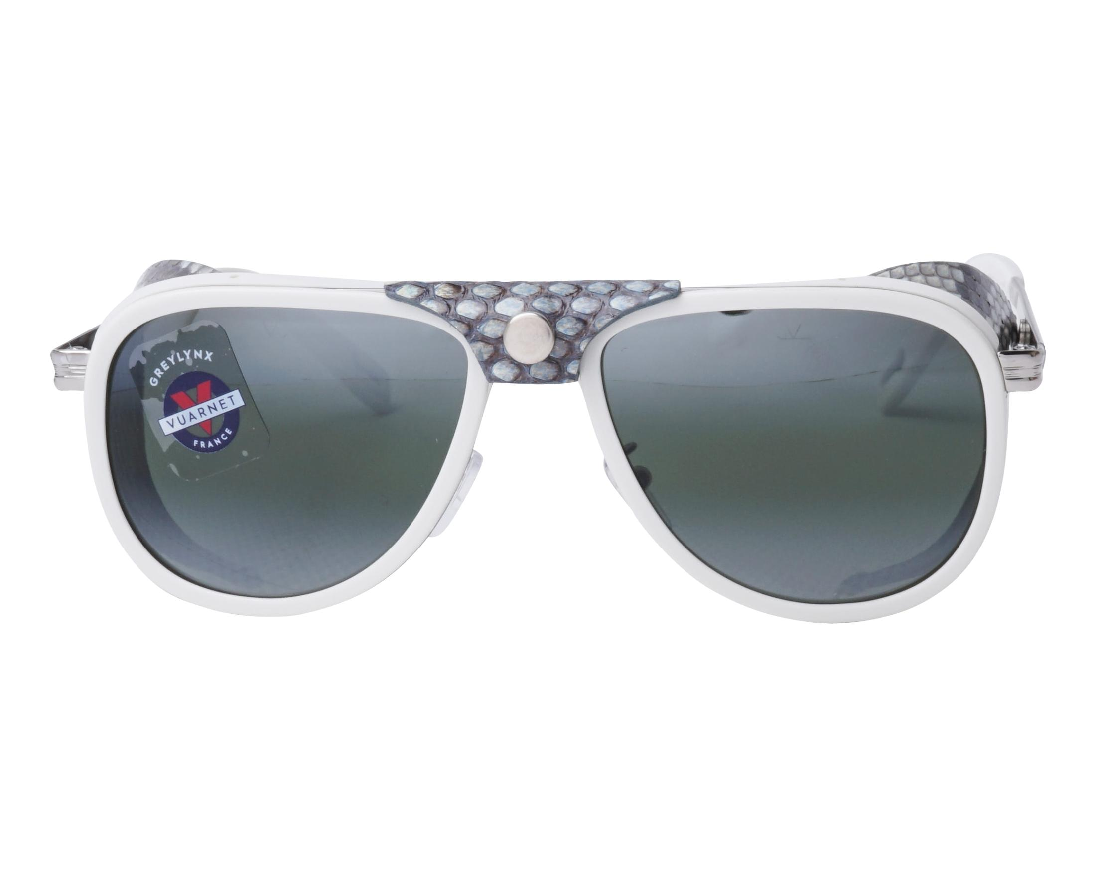 93239cdd01 Sunglasses Vuarnet VL-1315 0017-1136 55-14 White Ruthenium front view