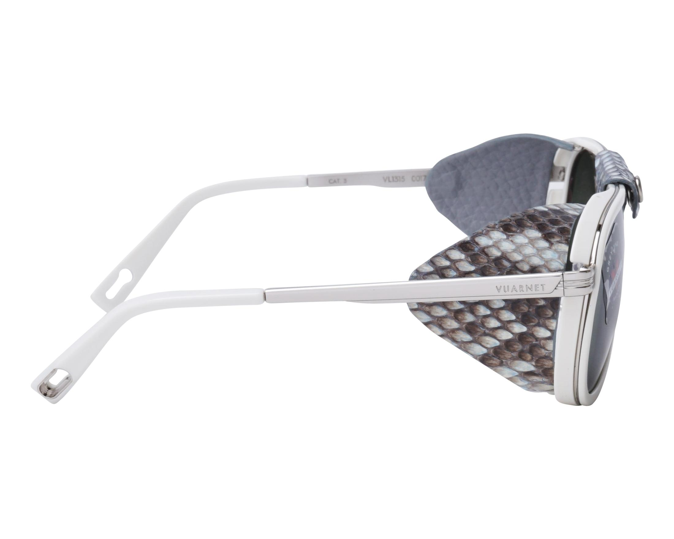 1656e61b6f Sunglasses Vuarnet VL-1315 0017-1136 55-14 White Ruthenium side view