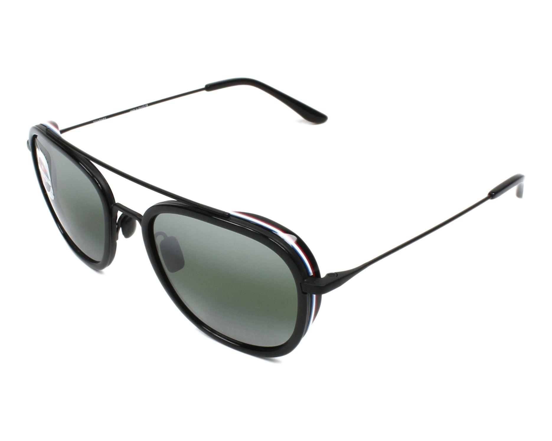 Sunglasses Vuarnet VL-1615 0007-1136 54-19 Black Black profile view 40901f6f02f8