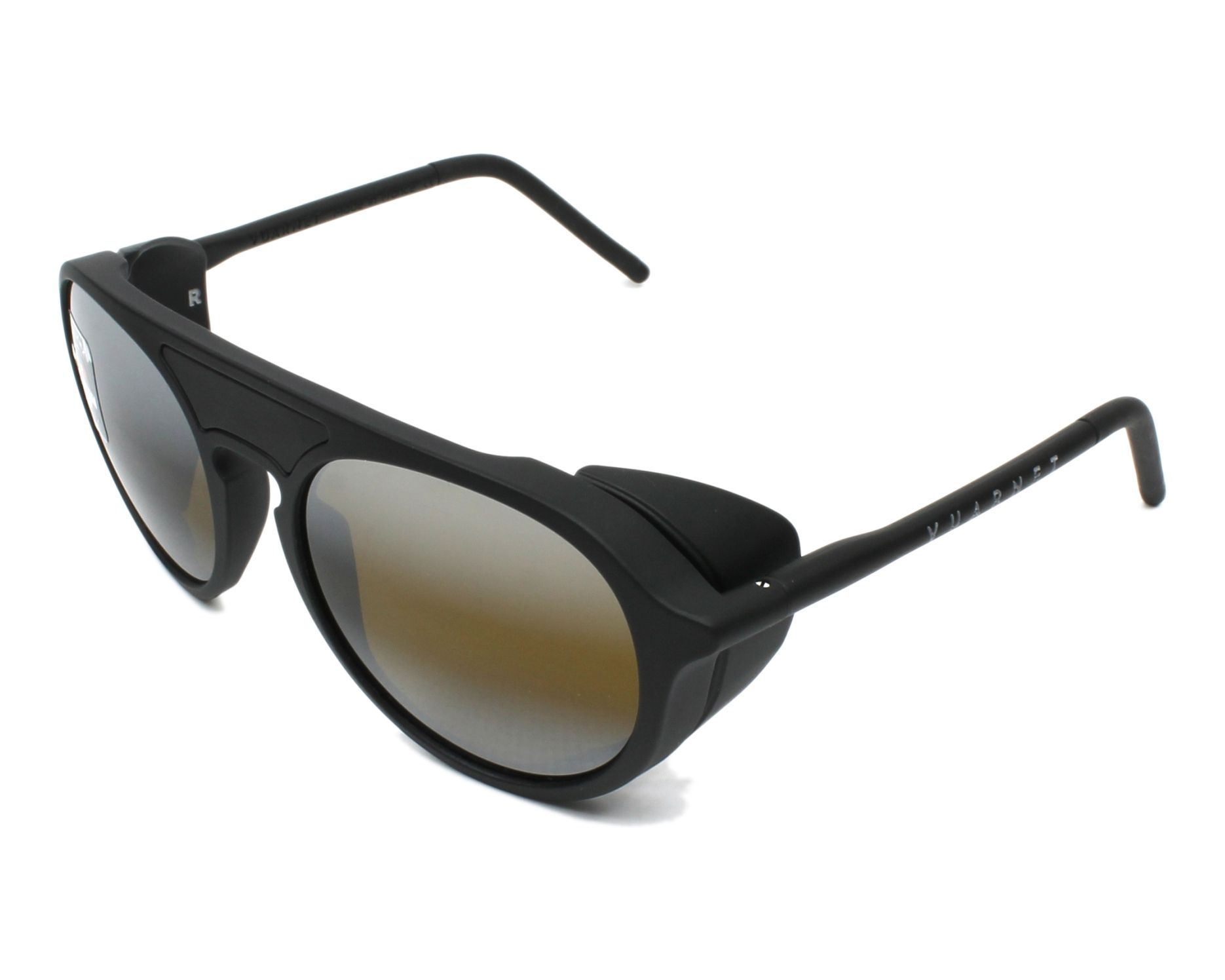 4501aee79db Sunglasses Vuarnet VL-1709 0001-7184 51-18 Black profile view
