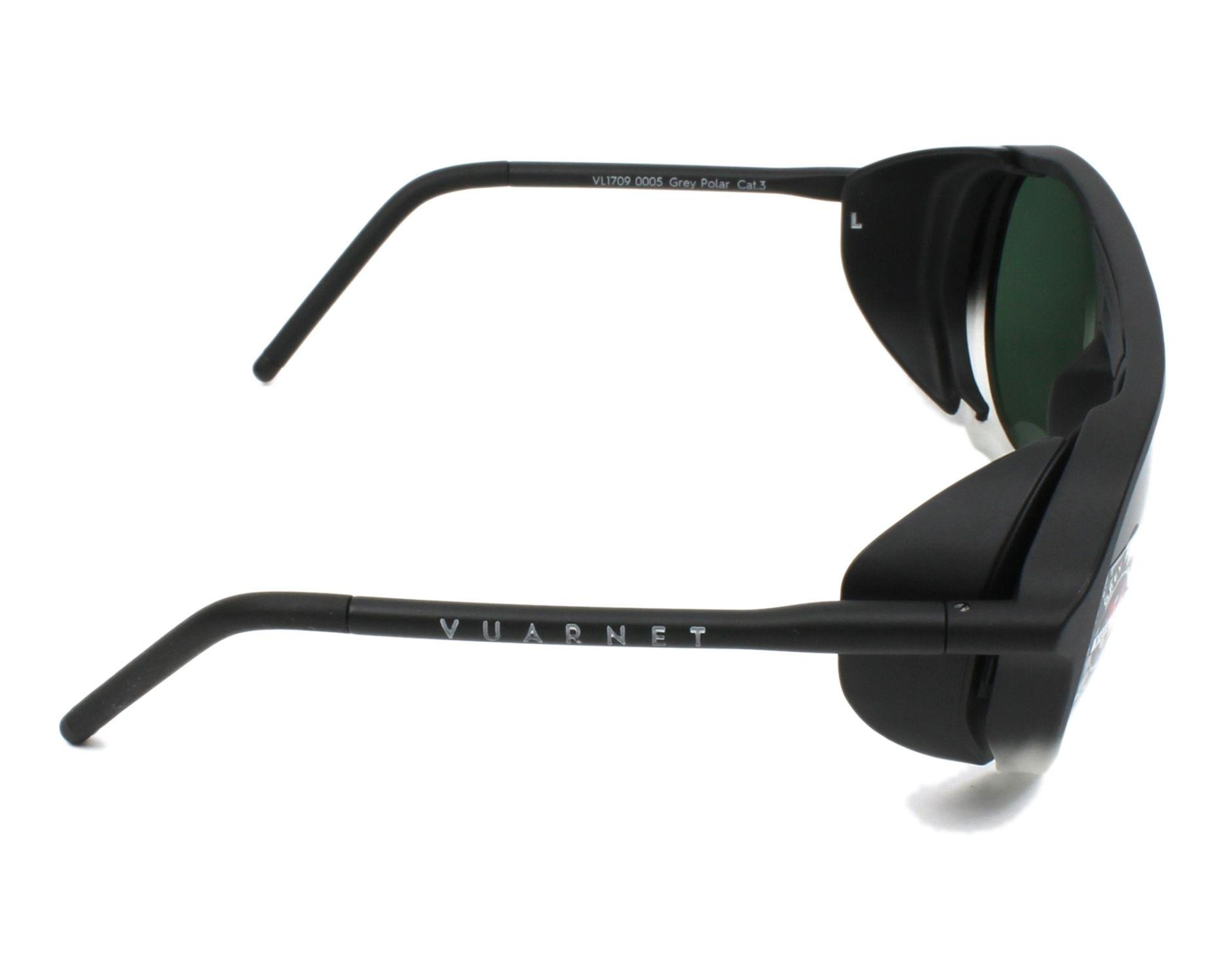 2fa0cc5d5dec3 Sunglasses Vuarnet VL-1709 0005-1622 51-18 Black Crystal side view