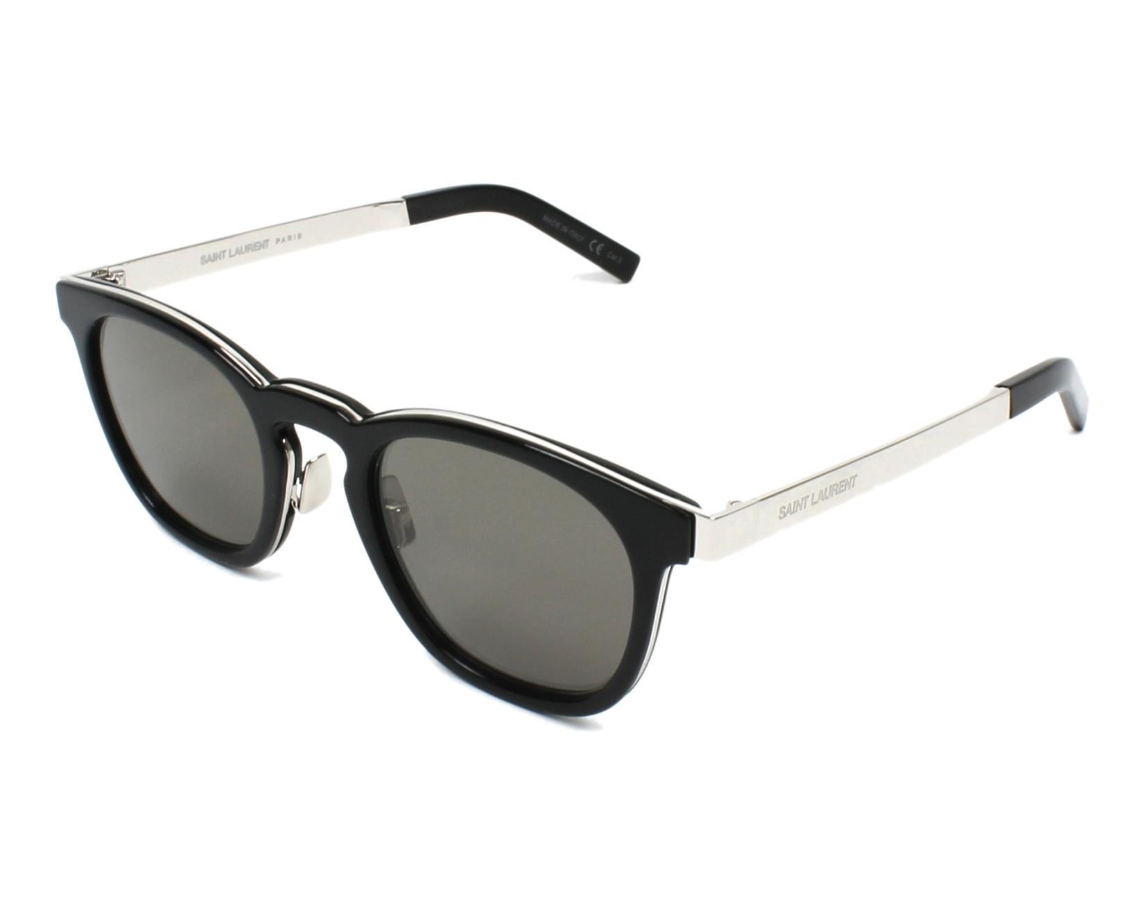 0491d2a1408 Sunglasses Yves Saint Laurent SL-28 001 49-23 Black Silver profile view