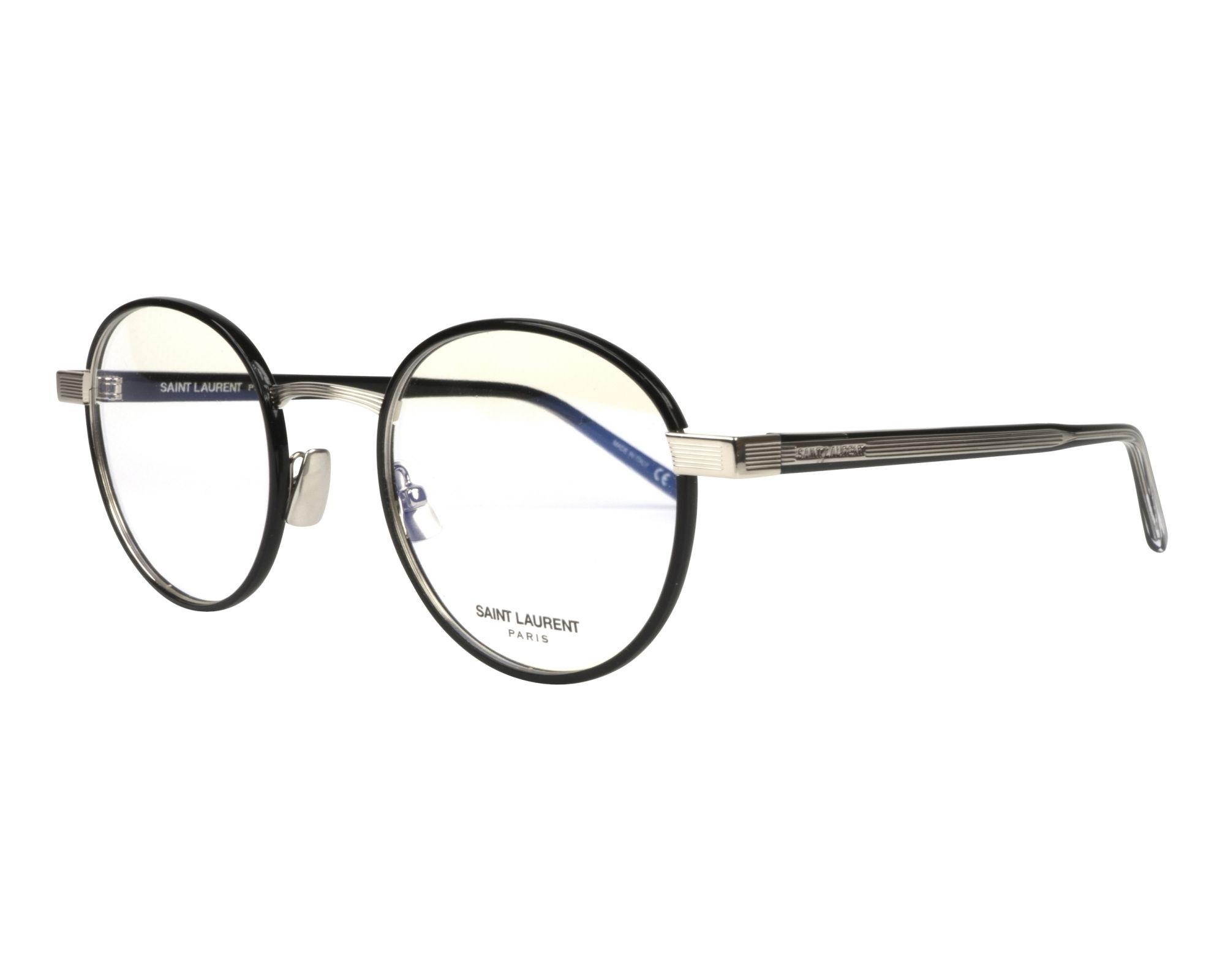 4dba30ad1ea eyeglasses Yves Saint Laurent SL-125 001 49-22 Black Silver profile view
