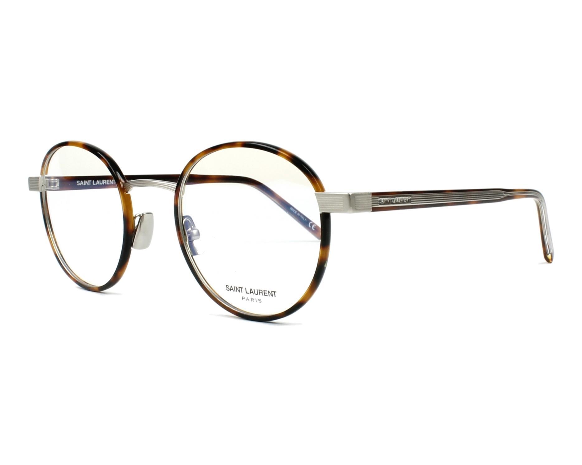 3b23881235c eyeglasses Yves Saint Laurent SL-125 002 49-22 Havana Silver profile view