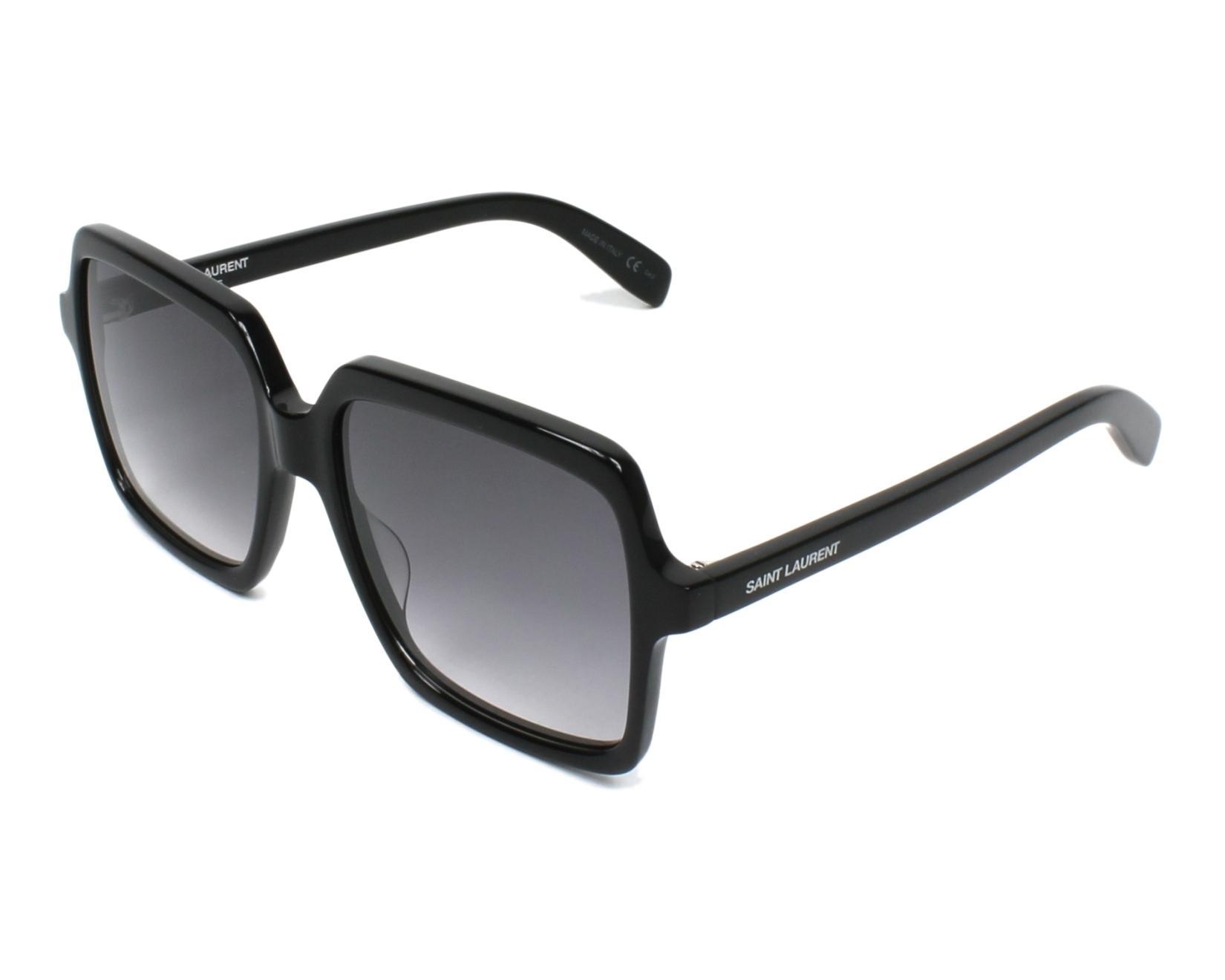 a042a518845 Sunglasses Yves Saint Laurent SL-174 001 56-17 Black profile view