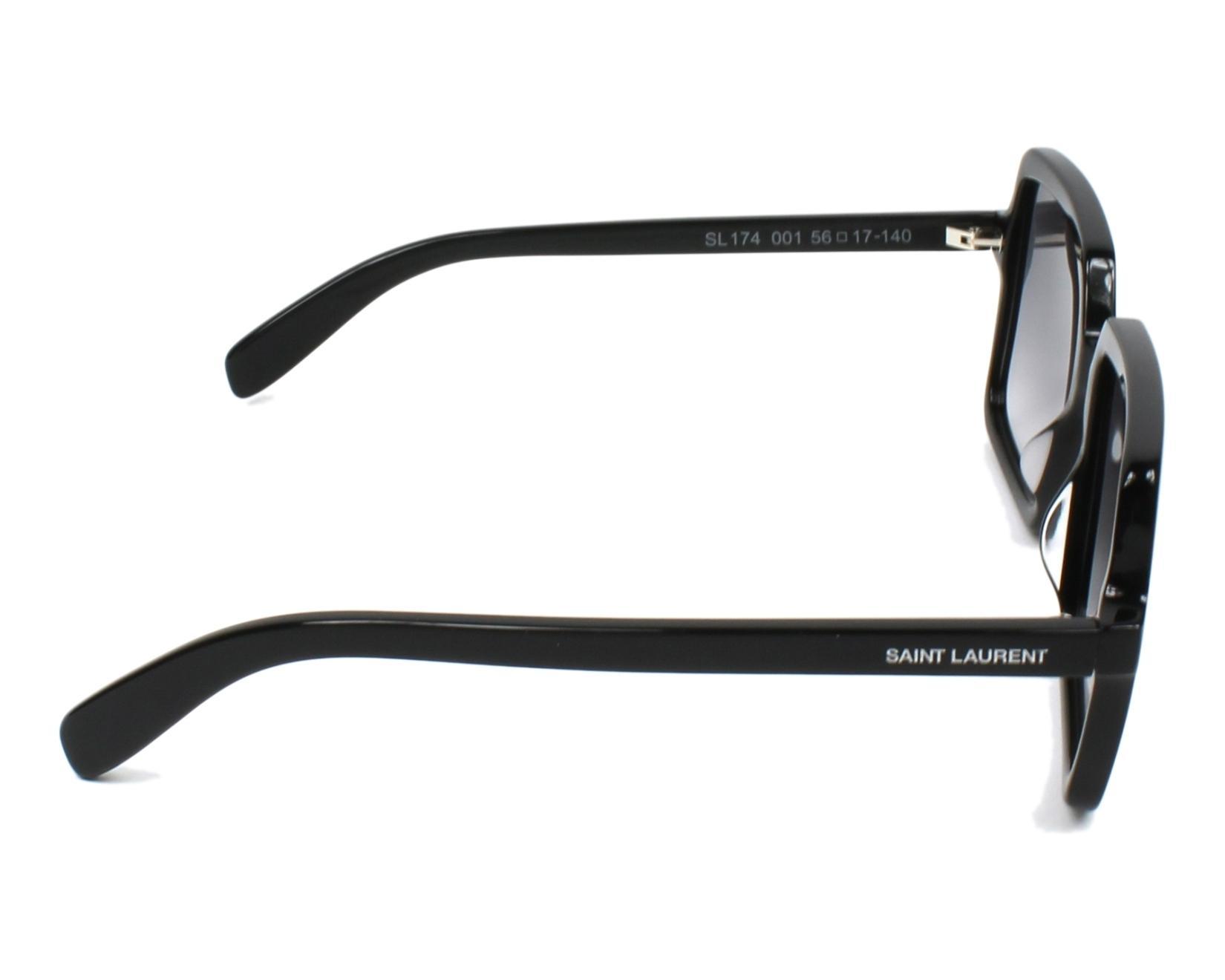 29c1a3e4913 Sunglasses Yves Saint Laurent SL-174 001 56-17 Black side view