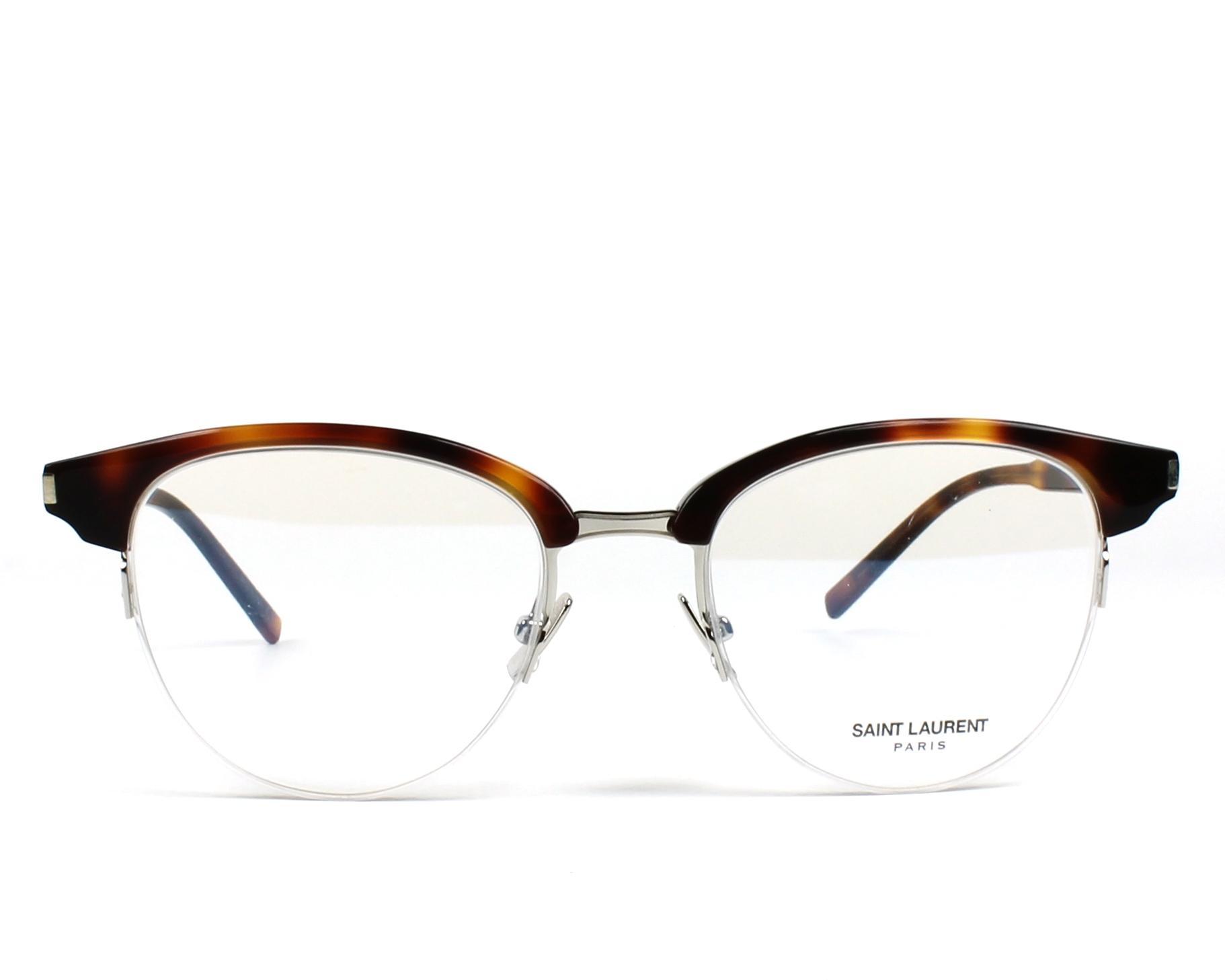18881e3f917 eyeglasses Yves Saint Laurent SL-188-SLIM 003 49-18 Havana Silver front